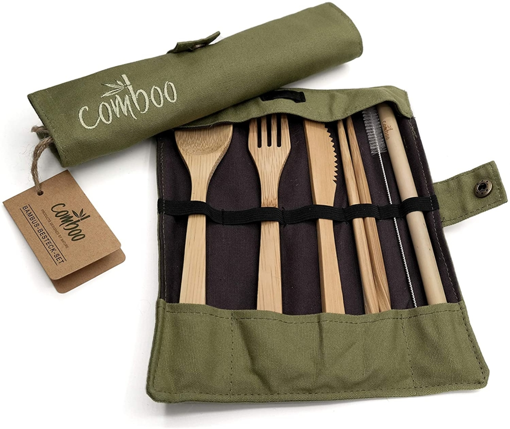 Bambus-Reisebesteck
