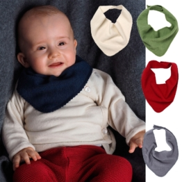 Baby Dreieckstuch aus Bio Wolle & Seide, Reiff