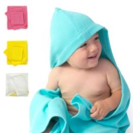 Baby Kapuzenhandtuch & Waschlappen Set, Bio-Baumwolle