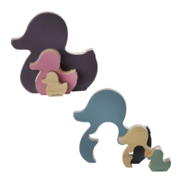 Hevea Ente Kawan Steckspielzeug aus Kautschukholz