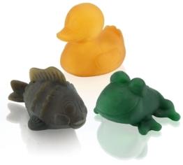 Hevea Pond Trio farbig  Öko Badespielzeug im Geschenkset