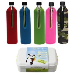 Reiseset  Bio Trinkflasche und Bio Lunchbox