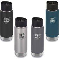 Klean Kanteen isoliert - 473 ml Isolierflasche Edelstahl mit Cafe Cap