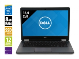 Dell Latitude E5470 - 14,0 Zoll - Core i5-6300U @ 2,4 GHz - 8GB RAM - 250GB SSD - WSXGA (1600x900) - Webcam - Win10Pro