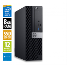 DELL OptiPlex 5060 SFF - Core i3-8100 @ 3,6 GHz - 8GB RAM - 250GB SSD - Win10Home