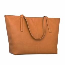 Expatrié Handtasche Damen Groß Braun MANON Große Schultertasche aus veganem Leder - Shopper Ledertasche Umhängetasche - Elegante Damenhandtasche Kunstleder mit vielen praktischen Fächern für - 1