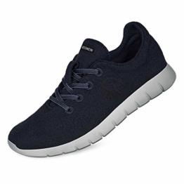 GIESSWEIN Merino Runners Men - Atmungsaktive Sneaker für Herren aus 100% Merino Wolle, Sportliche Schuhe, Halbschuh, Freizeitschuh, Herrenschuhe - 1