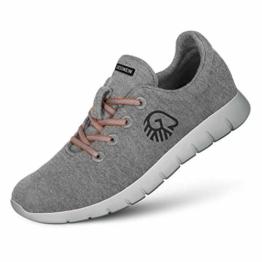 GIESSWEIN Merino Runners Women - Atmungsaktive Sneaker für Damen aus 100% Merino Wolle, Sportliche Schuhe, Halbschuh, Freizeitschuh, Damenschuhe - 1