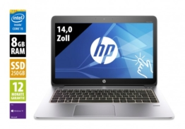 HP EliteBook 1040 G3 - 14,0 Zoll - Core i5-6300U @ 2,4 GHz - 8GB RAM - 250GB SSD - QHD (2560x1440) - Touch - Webcam - Win10Pro