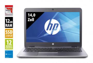 HP EliteBook 745 G3 - 14,0 Zoll - AMD Pro A10-8700B @ 1,8 GHz - 12GB RAM - 250GB SSD - FHD (1920x1080) - Webcam - Win10Home