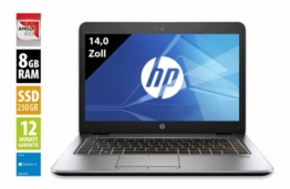 HP EliteBook 745 G3 - 14,0 Zoll - AMD Pro A10-8700B @ 1,8 GHz - 8GB RAM - 250GB SSD - FHD (1920x1080) - Webcam - Win10Home