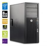 HP Workstation Z420 CMT - Xeon E5-1607 v2 @ 3,0 GHz - 8GB RAM - 250GB SSD - DVD-RW - Nvidia Quadro K600 - Win10Pro