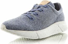 Laerke Merino Sneaker PLK004 Women, Jeans/Grey, 38 EU - 1