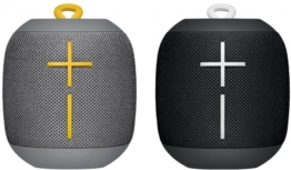 Logitech Ultimate Ears WONDERBOOM Doppelpack - tragbare Bluetooth Lautsprecher - 1 x Schwarz, 1 x Grau
