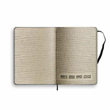 Nachhaltiger Kalender A5 aus Graspapier, Samaya 2021 - Easy,152 Seiten, Natur, V-Label zertifiziert, Made in Germany (DE/EN) - 4