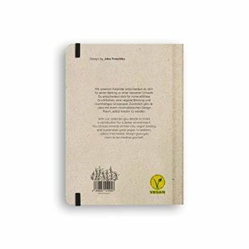 Nachhaltiger Kalender A5 aus Graspapier, Samaya 2021 - Easy,152 Seiten, Natur, V-Label zertifiziert, Made in Germany (DE/EN) - 9