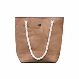NEWBEK – Shopper – Handtasche, Schultertasche aus reiß- & wasserfestem ökofreundlichem Material wie Leder: Vegane Einkaufstasche Shopping Bag, Umhängetasche für Damen - 1