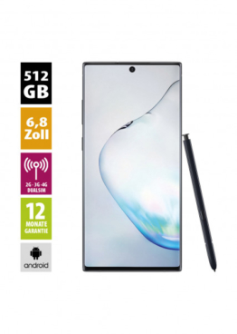 Samsung Galaxy Note 10 Plus DUOS (512GB) - Aura Black